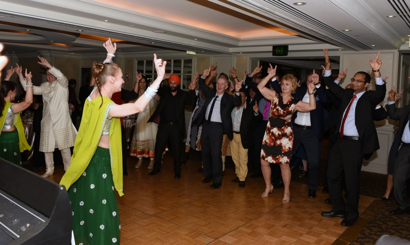 Guests enjoy a Bollywood dance lesson