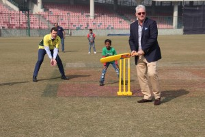 It was very kind of Deputy High Commissioner of Australia to India Mr Chris Elstoft and former Australian Cricketer Dean Jones to engage in a brief cricket session with our kids.