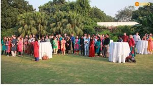 Teams at the British High Commissioner's residence