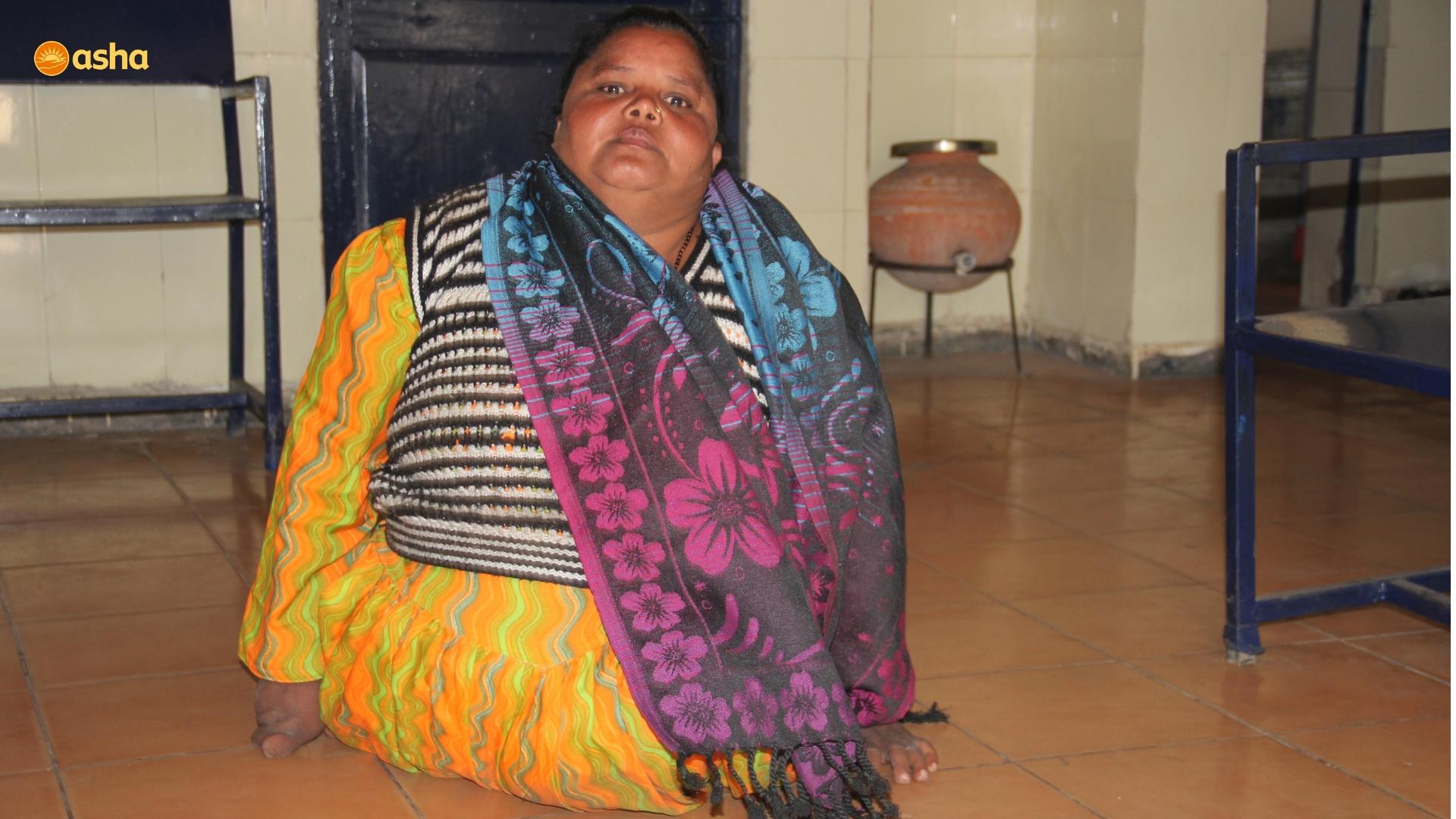 Guddi visiting Asha center at Mayapuri slum community