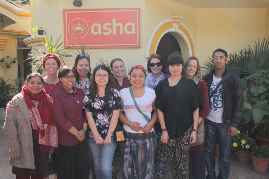 The Team with Asha Supervisor, Ms Sweeta Jacob on their first day at Asha