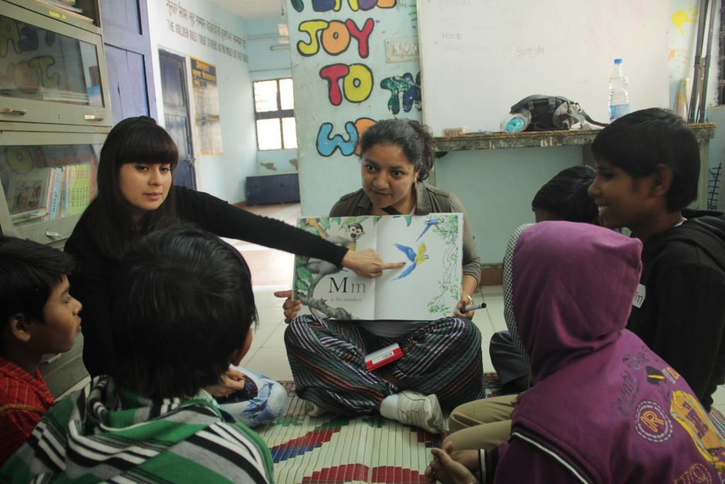 Story telling session with Bal Mandal (Children's Group) at Jeewan Nagar