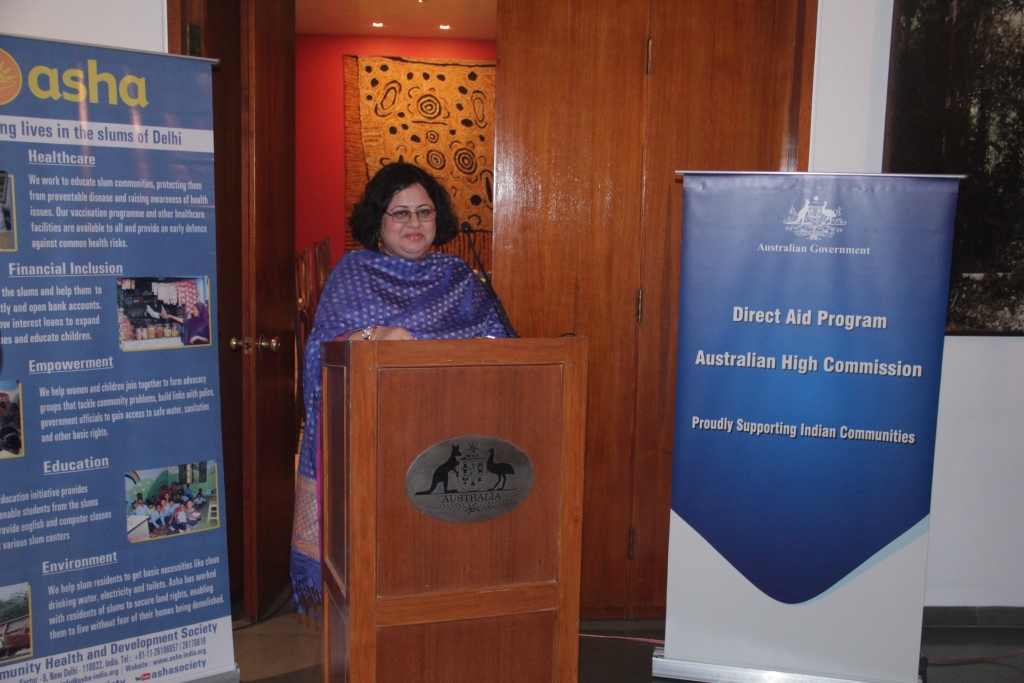 Dr Kiran speaking at the event