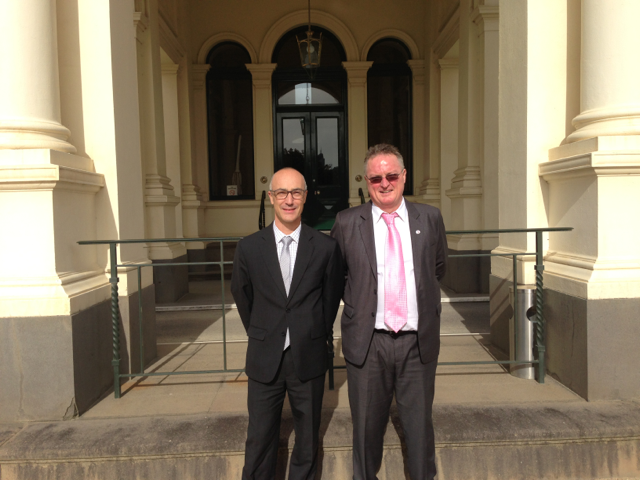 AFOA-Board-Member-Mr-Richard-Leder-with-Mr-Paul-Smith-outside-the-Government-House