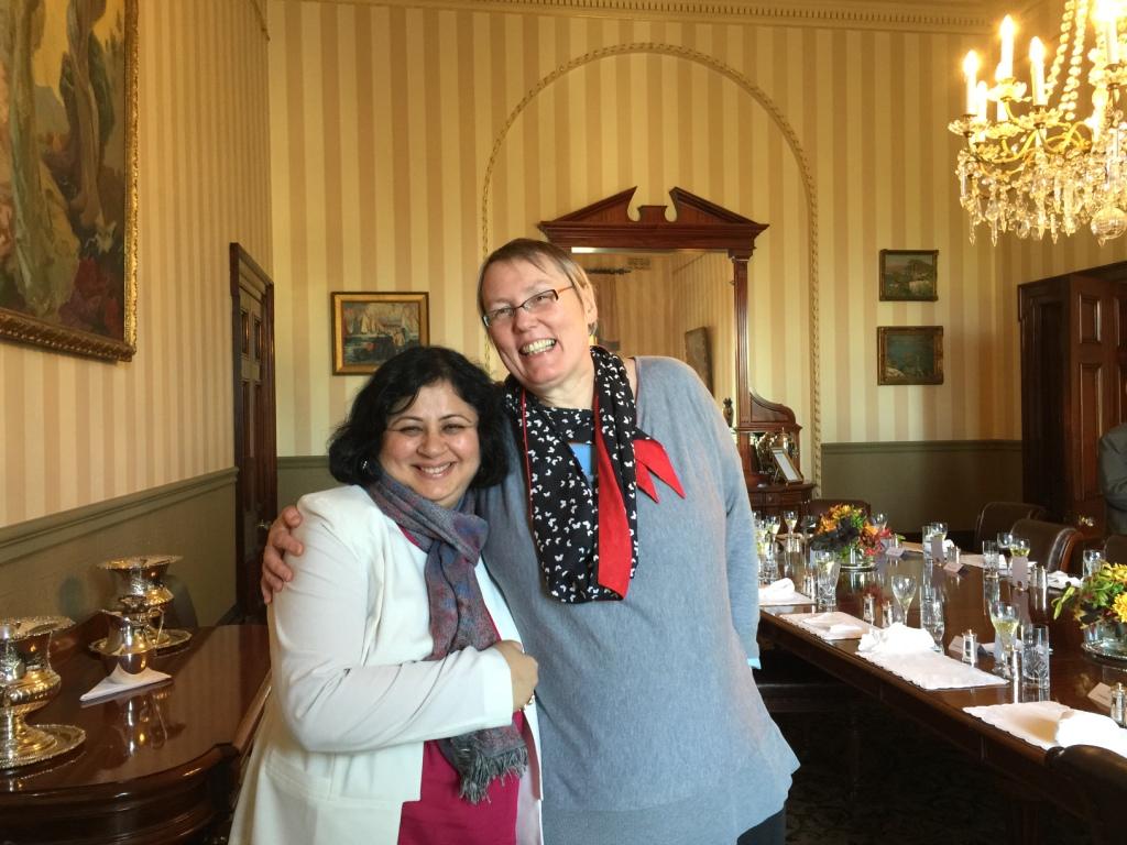 Dr-Kiran-with-Professor-Barbara-McPake-Director-of-Nossal-Institute-University-of-Melbourne