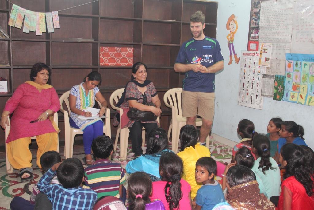 Ryan interacting with Children's Association members