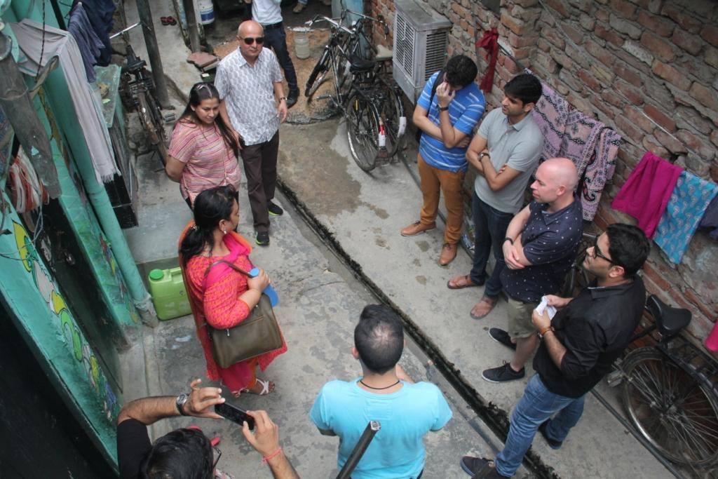 The Macquarie team at Dr Ambedkar slum colony