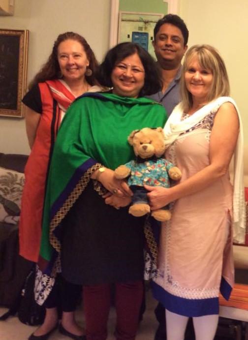 Dr Kiran and Freddy with Elizabeth, Paula and Indi