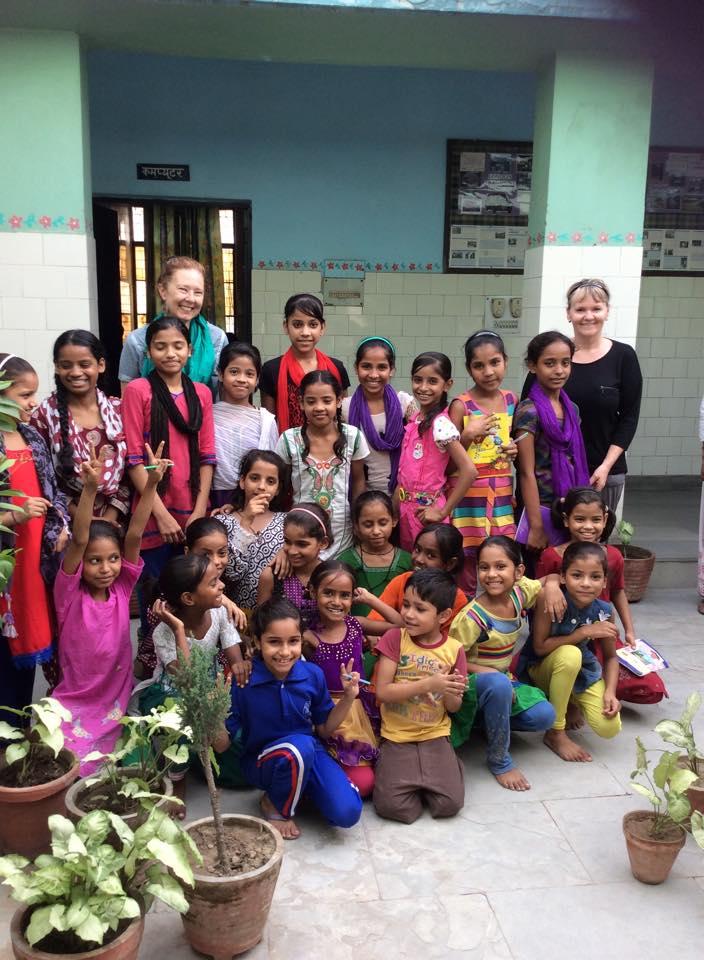Having fun with the children of Seelampur slum colony