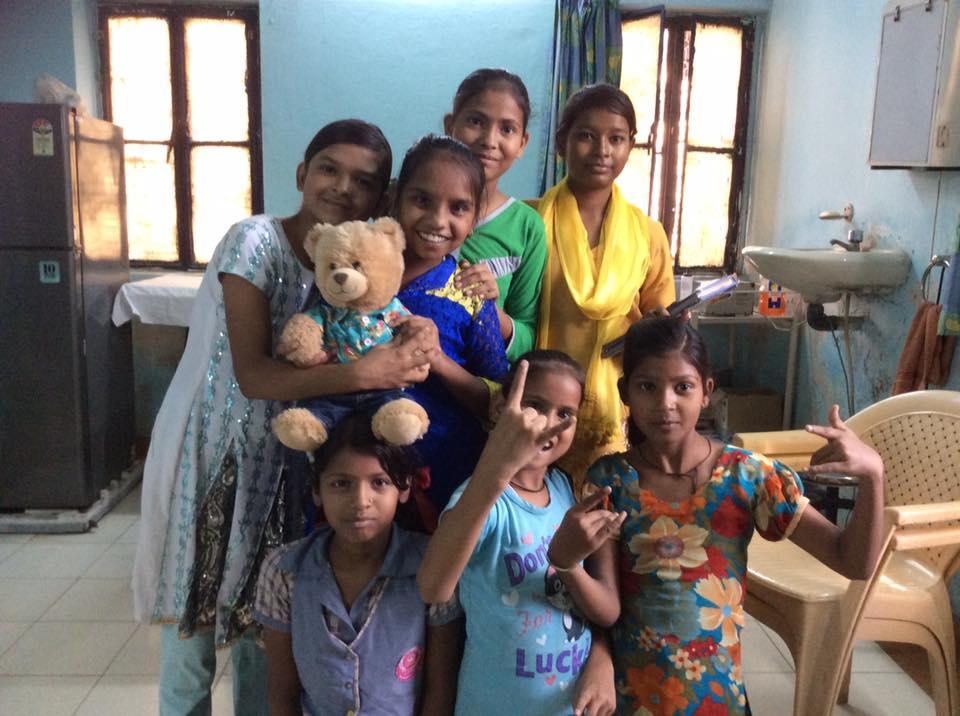 Indi spreading cheer to children of Tigri slum colony