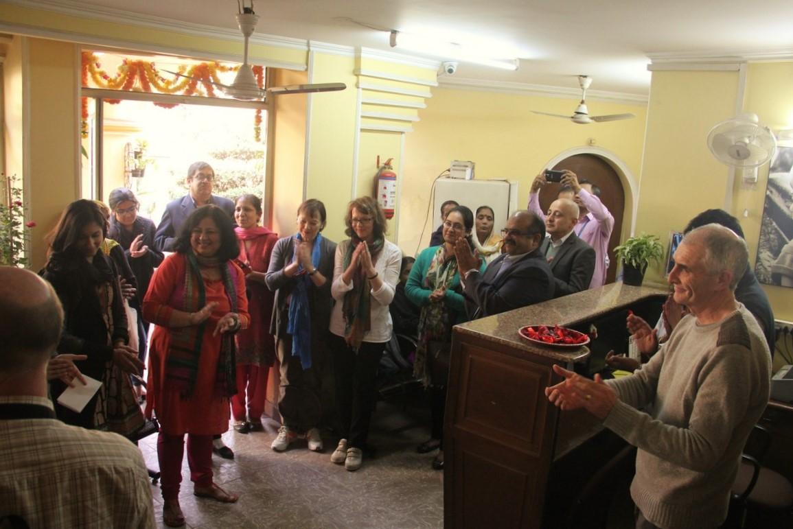 Dr Kiran addressing the gathering at the Asha polyclinic