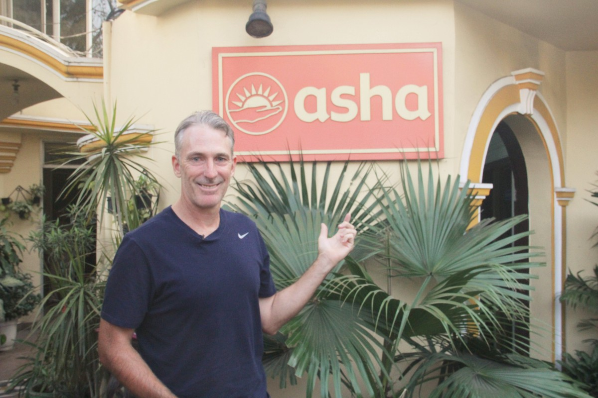 Damien Fleming at the Asha Headquarters