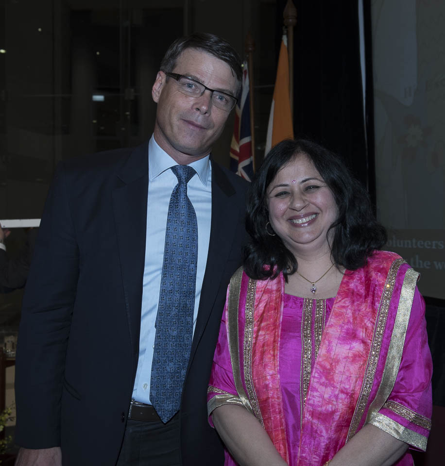 Dr Kiran with former Australian High Commissioner to India, Mr Patrick Suckling.