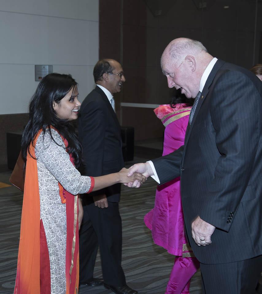 Dr Kiran and Usha meet HE General the Hon Sir Peter Cosgrove, Governor General of Australia AK MC