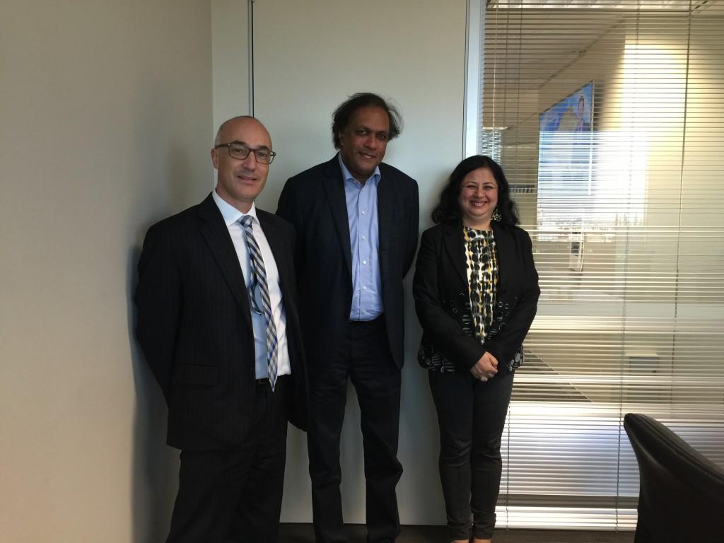 AFOA board member Richard Leder and Dr Kiran with Ashok Jacob, Chairman of Australia India Council