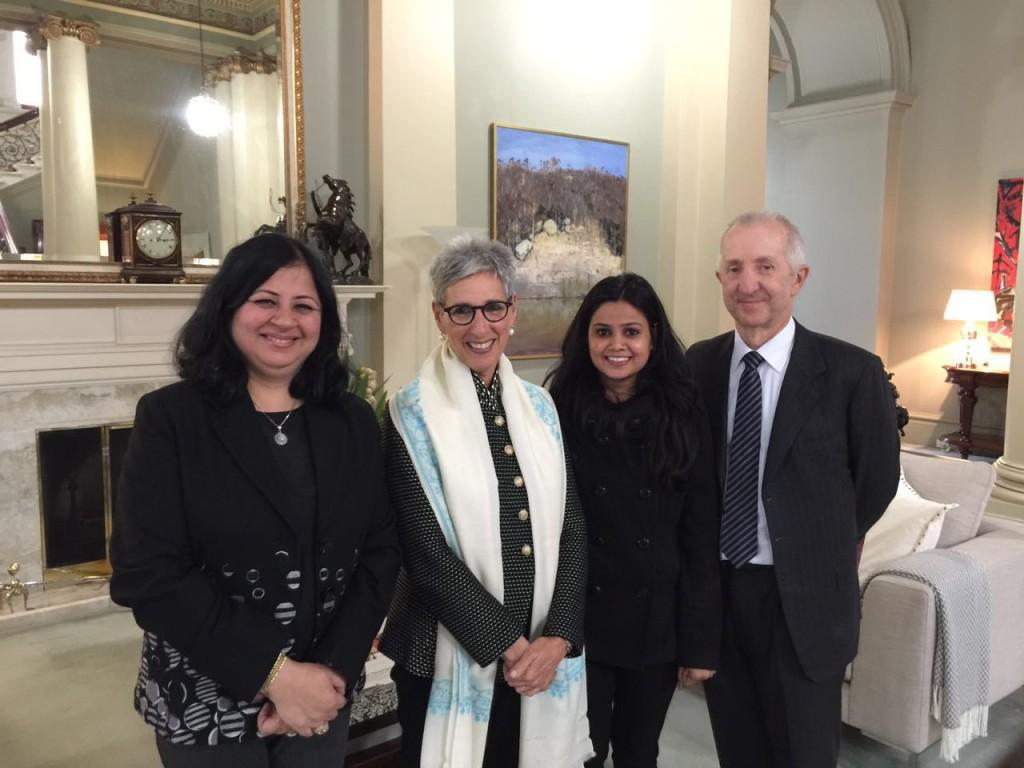 Dr Kiran, the Governor of Victoria - Hon Linda Dessau, Usha and Robert Johanson