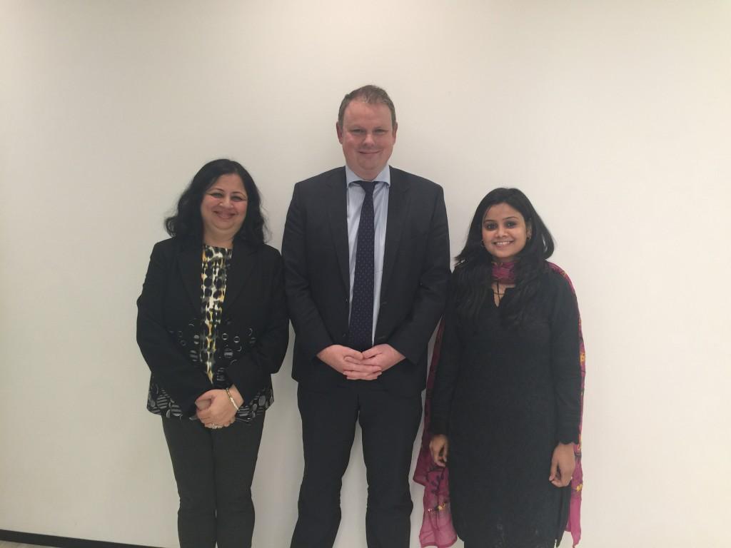 Dr Kiran and Usha with Nicholas Gray, CEO of Australia's National Newspaper - The Australian