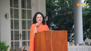 Dr Kiran Martin speaking at the event