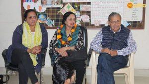 Dr Monica and her parents at Asha's Kanak Durga slum centre