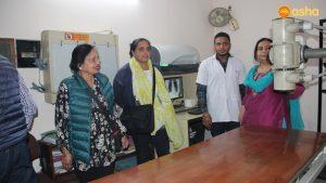 Dr Monica Pahuja with the Asha staff at Asha headquarter
