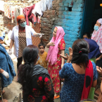 Asha provides essential groceries to families in Chanderpuri slum community