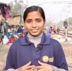 Asha student Vandana from Mayapuri slum community