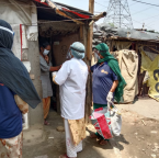 Asha COVID-19 Emergency Response: Asha team and Asha warriors monitor covid positive patients in the slums