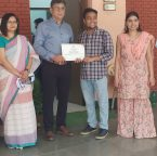 Asha graduate Tushar awarded the Gold Medal for Student of the Year